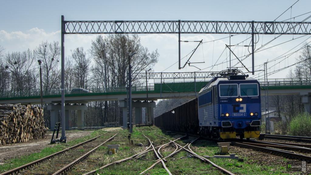 163 034-2 ČD Cargo Linia D29-139 Kobiór