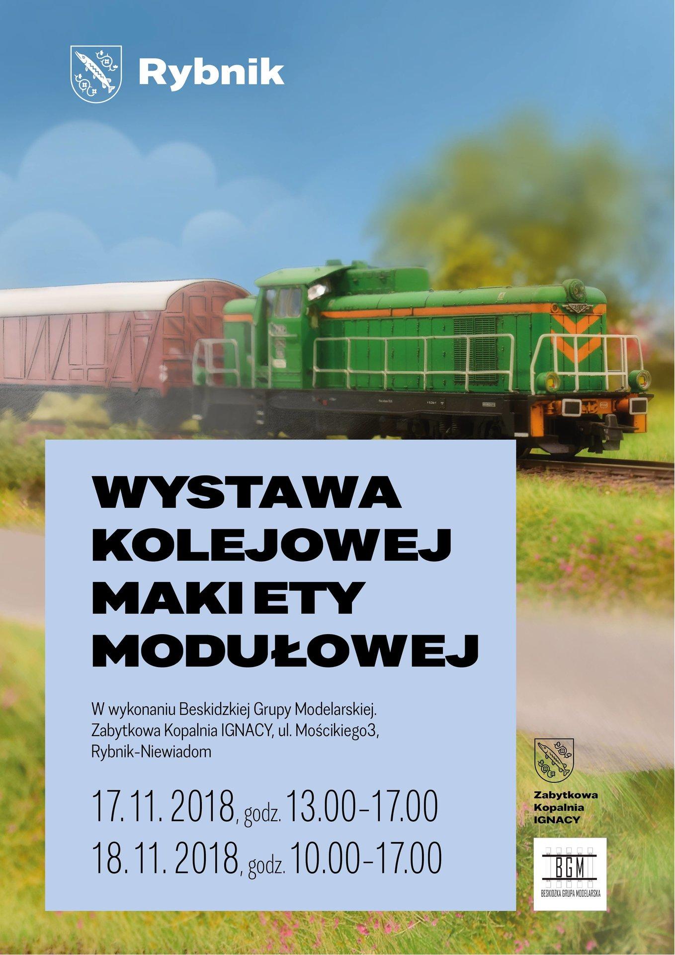 Plakat wystawy makiety modułowej Wystawa Rybnik 2018